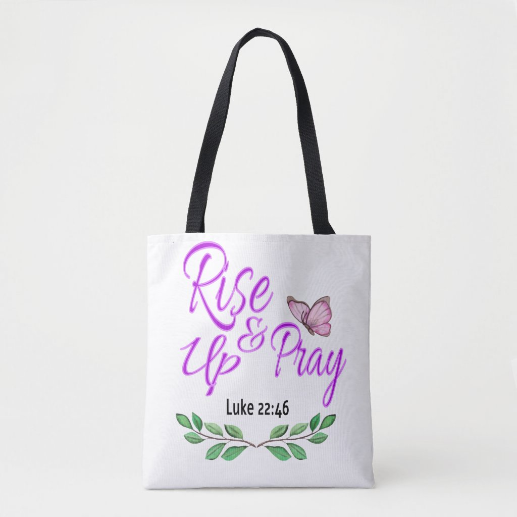 Rise Up & Pray Tote Bag