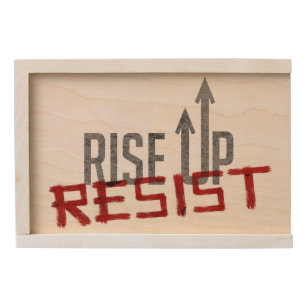 Rise Up, Resist Wooden Keepsake Box