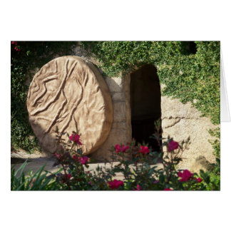 Risen as He Said - Empty tomb of Jesus Note Card