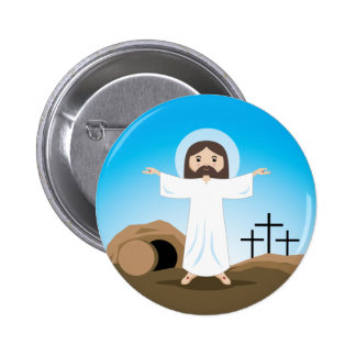 Risen Christ Button