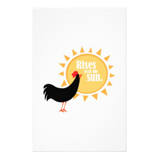 Rises With The Sun. Custom Stationery