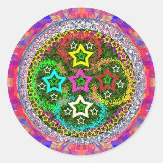 RISING 5Stars - Kids Love FiveStars Classic Round Sticker
