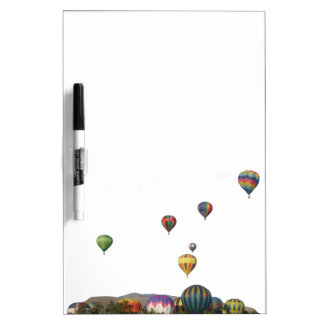 Rising Balloons Above Trees & Mountains Dry-Erase Board