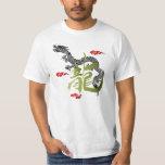 Rising Black Dragon Men's T Shirts