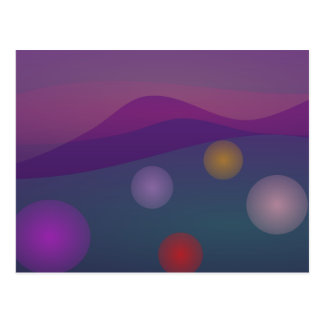 Rising Bubbles Art Postcard