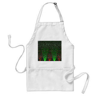 Rising Bubbles Green/Red Apron