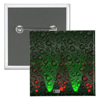 Rising Bubbles Green/Red Badge Pins