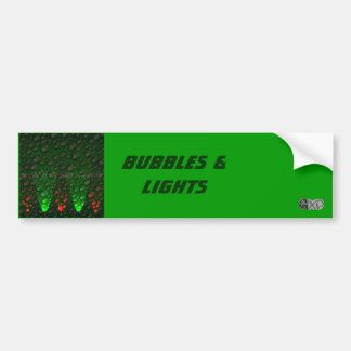 Rising Bubbles Green/Red Bumper Sticker Car Bumper Sticker