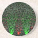 Rising Bubbles Green/Red Drink Coasters