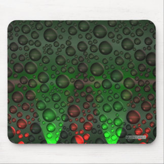 Rising Bubbles Green/Red Mousemat Mouse Pad