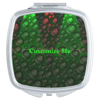 Rising Bubbles (Green&Red) Makeup Mirrors
