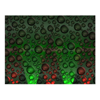 Rising Bubbles Green/Red Postcard