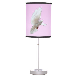 Rising Dove Pink Table Lamp