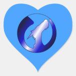Rising Dragons Logo Heart Sticker