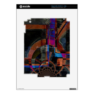 Rising From Darkness Abstract Decals For iPad 2