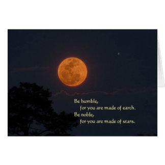 "Rising Full Moon, ""Be Noble"" Greeting Card"