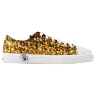 Rising Gold Glitter Low-Top Sneakers