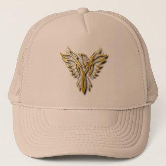Rising Golden Phoenix Gold Flames With Shadows Trucker Hat
