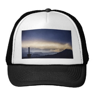 Rising high in the sky trucker hat