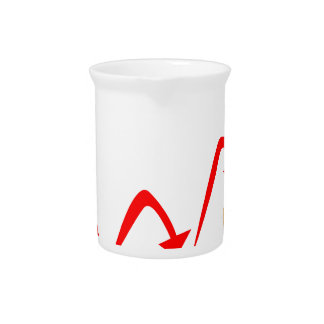 Rising Money Steps Beverage Pitcher