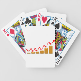 Rising Money Steps Bicycle Playing Cards