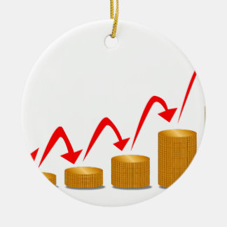 Rising Money Steps Ceramic Ornament