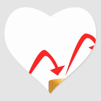 Rising Money Steps Heart Sticker