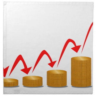 Rising Money Steps Napkin