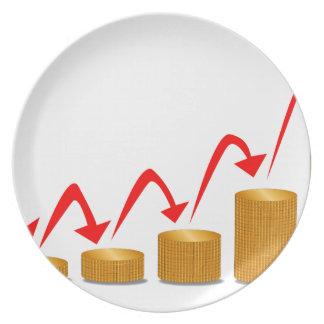 Rising Money Steps Plate