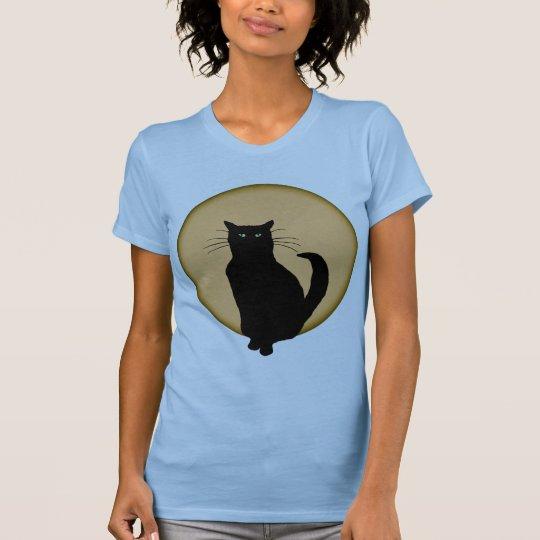 Rising Moon Cat Silhouette Shirt