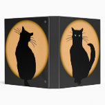 Rising Moon Cat Silhouettes Binder