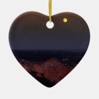 Rising Moon Ceramic Ornament
