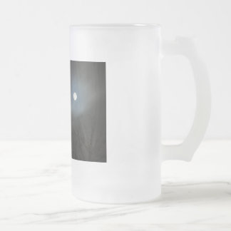 Rising Moon Frosted Glass Beer Mug