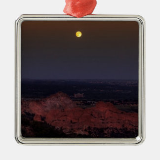 Rising Moon Metal Ornament