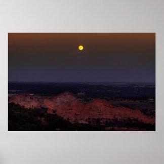 Rising Moon Print