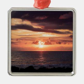 Rising Moon Seascape Ornament