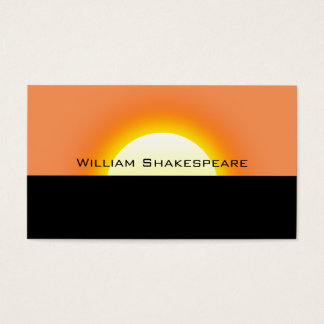 Rising or Setting Sun Business Card