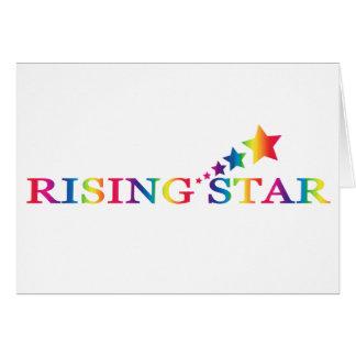 Rising Star Rainbow BLANK Note Card