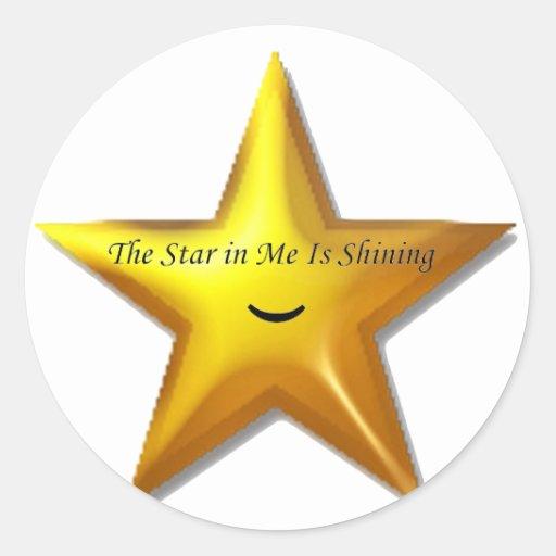 Rising Star Round Sticker