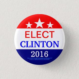 Rising Stars Elect Clinton 2016 Pinback Button