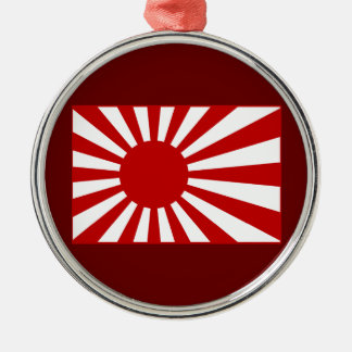 Rising Sun2 Round Metal Christmas Ornament