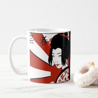 Rising Sun Anime Geisha Coffee Mug