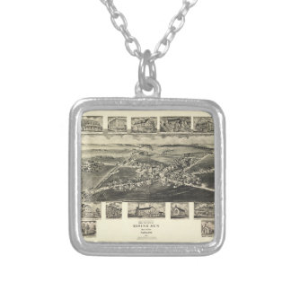 Rising Sun, Cecil County, Maryland (1907) Silver Plated Necklace