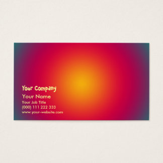 Rising Sun color harmony Business Card