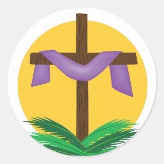 Rising Sun Draped Cross