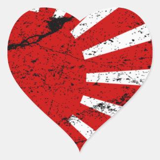 Rising Sun Heart Sticker