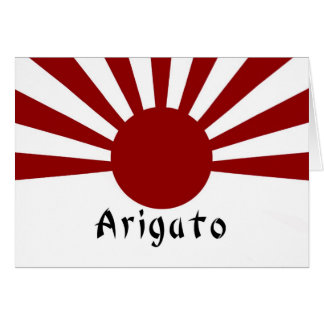 Rising Sun Japanese Imperial Thank You Card
