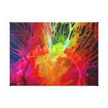Rising Sun on Canvas Stretched Canvas Print