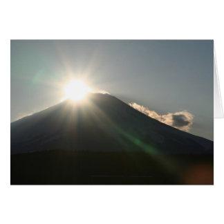 Rising sun on Mt.Fuji Card
