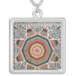 Rising Sun' or 'Star of Bethlehem' Square Pendant Necklace